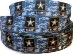 4 or 5 Yards inch Grosgrain Army Ribbon Trim By The Yard by KC Elastic Ties Quilting Projects, Craft Projects, Military Ribbons, Dog Leash, Headband Hairstyles, Grosgrain Ribbon, Yards, Hair Bows, Headbands