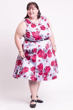 De fedeste Kjole med Røde Roser på Lilla 50 Modetøj til Damer i luksus kvalitet