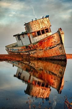 Reminds me of a deserted ship that I saw in my travels to Honduras
