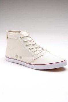 JackThreads - Slymz Mid Whisper White Shoe