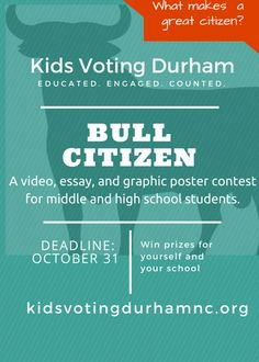 Educated, Engaged, Counted. Early Voting, Win Prizes, Young People, Classroom, Student, Education, School, Kids, Children