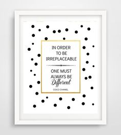 Printable Art Inspirational Print Coco Chanel by PaperStormPrints