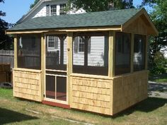 screen house here is a customer finished shed that we built a few years back