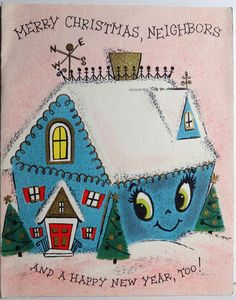 Hallmark Pop Up House Vintage Christmas Card by Kalaland Old Time Christmas, Christmas Neighbor, Old Fashioned Christmas, Hallmark Christmas, Christmas Past, Christmas Things, Christmas Ideas, Vintage Greeting Cards, Christmas Greeting Cards