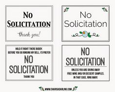 image about No Soliciting Printable named No Soliciting Signs or symptoms For Properties Printable