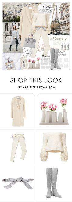 """""""Sans titre #1683"""" by ladybird-fb ❤ liked on Polyvore featuring Chanel, Anja, Harris Wharf London, Chive, Tommy Hilfiger, Dolce&Gabbana, Halston Heritage and Hermès"""