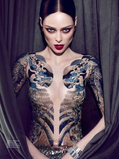 Coco Rocha proves why she is the absolute LIMIT!!!!!! shot by Max Abadian for Elle Brasil