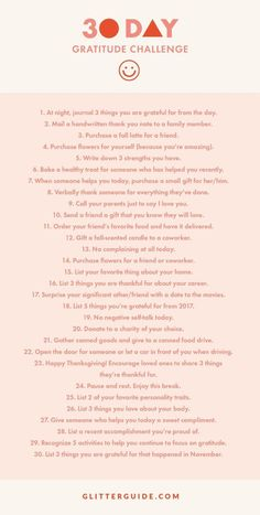 Join Us In Our 30-Day Gratitude Challenge This November