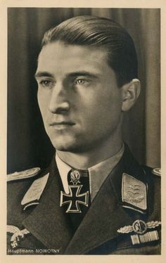 """✠ Walter """"Nowi"""" Nowotny (7 December 1920 – 8 November 1944) killed in a crash following combat with US fighters."""