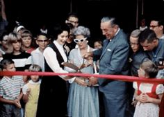 Walt Disney adorably failing to cut a ribbon at the opening of Great Moments with Mr. Lincoln. | 16 Heartwarming GIF Sets Of Disneyland That Will Transport You To The '60s