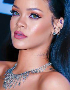 Inspiring image badgalriri, details, eyes, make up, rihanna by - Resolution - Find the image to your taste Rihanna Fenty Beauty, Mode Rihanna, Rihanna Makeup, Rihanna Love, Rihanna Photos, Rihanna Riri, Rihanna Style, Beyonce, Rihanna Outfits
