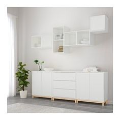 EKET Combinaison rangement avec pieds, blanc - blanc - IKEA