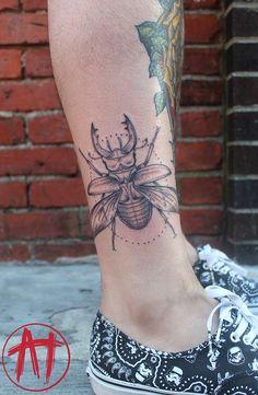 bug beetle tattoo by alicia thomas at Boston Tattoo Company