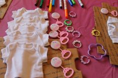 Party favors and an art activity- perfect for a baby doll birthday party!