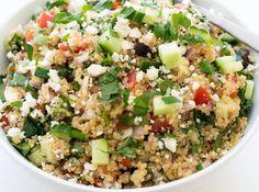 Greek Kale Quinoa Salad mediterranean diet meals