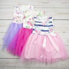 These adorable dresses are made of high-quality material and will make your little girl look super stylish. The colors are perfect for spring photos. Sizes Included: Months 3 4 5 6 Thanks for Shopping With Little Adam & Eve! Cute Dresses, Flower Girl Dresses, Daily Deals Sites, Best Shopping Sites, Deal Sites, Spring Photos, Tutu, Harajuku, Boutique
