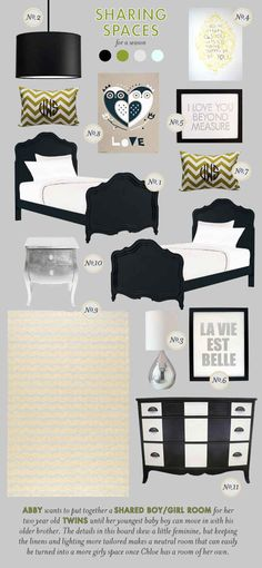 shared spaces twin nursery inspiration board