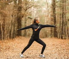 When life pulls you in all directions, it helps to be flexible. Reach for comfortable, durable clothing that will stretch along with you. There's nothing sleeker than black leggings paired with a matching hoodie. And for a pop of color, go for the gold. Click to shop women's activewear.
