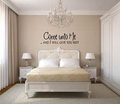 COME UNTO ME And I WILL GIVE YOU REST WALL DECAL HOME DECOR ** To