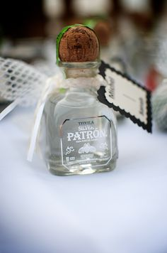 #patron wedding favors I would LOVE theseas my wedding favors and do would my guest :)