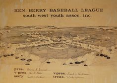 Original design sketch for the Ken Berry League complex near 61st and Wanamaker, 1970. (Courtesy of the Beany and Margaret Conwell family.)