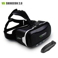 VR Shinecon II 2 Helmet Virtual Reality 3D Video Glasses VR Headset for iPhone 6 6s Plus 4.7 - 6.0 Mobile Phone