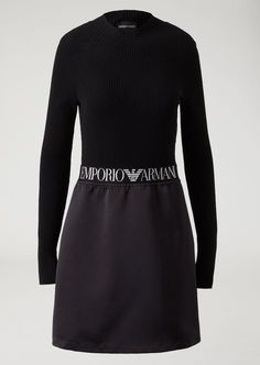 Flared mini skirt with elasticated logo band Flared Mini Skirt 55c646dce