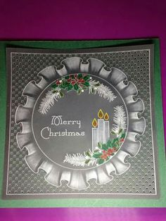 Vivien Dillimore using Groovi plates All Things Christmas, Christmas Cards, Parchment Cards, Lace Painting, Create And Craft, Paper Cards, Arts And Crafts, Patterns, Frame
