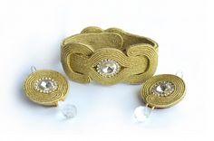 Soutache Bracelet, Soutache Jewelry, Beaded Jewelry, Handmade Jewelry, Rope Jewelry, Jewelry Crafts, Jewelery, Holiday Crochet Patterns, Mixed Media Jewelry