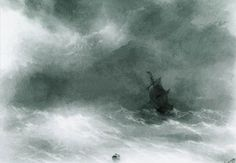 Strong wind - Aivazovsky Ivan
