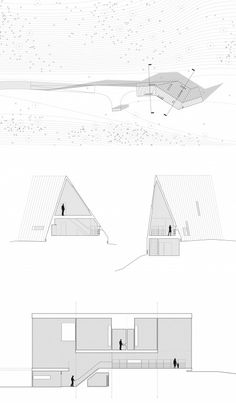 triangle cabin plans sections
