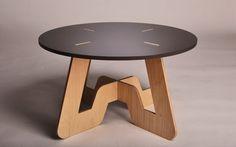 CNC cut plywood coffee table