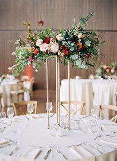 Blush and marsala centerpieces with protea, ranunculus, dahlias, and lush greenery // Country Music Hall of Fame Wedding, Nashville Simple Wedding Centerpieces, Wedding Flower Arrangements, Wedding Table Decorations, Floral Centerpieces, Flower Decorations, Floral Arrangements, Wedding Bouquets, Masquerade Centerpieces, Flower Bouquets