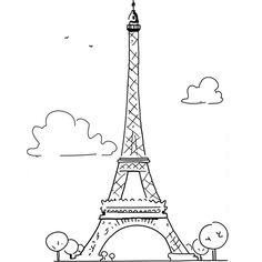 Coloriage Paris Tour Eiffel