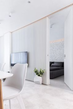 White Apartment by Pavel Yanev This bright 600 sq ft apartment located in Sofia, Bulgaria, was designed in 2016 by Pavel Yanev.