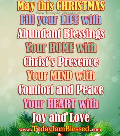 MERRY CHRISTMAS AND GOD BLESS YOU EVERY DAY   ♥Motivational Words ...