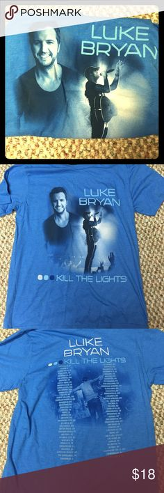 Like Bryan Kill the Lights tour T-shirt Luke Bryan Kill the Lights Tour T-shirt! Brand new. Never worn! Pictures in front. Tour locations on back. Tops Tees - Short Sleeve