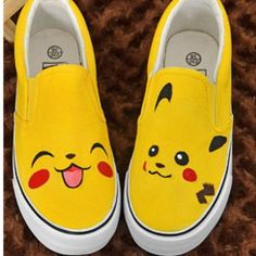 #anime shoes #pokemon trainer shoes anime painted shoes painted sh