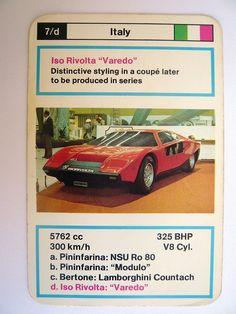 Iso Rivolta Varedo The Golden Years, Golden Age, Trump Card, Top Trumps, Automotive Design, Sport Cars, Motor Car, Vintage Cars, Dream Cars