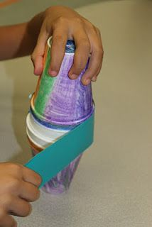 Have students make their own maracas by decorating 2 Styrofoam cups with crayons, filling them with dried beans or noodles and taping them together with duct tape ~spanishsimply.com