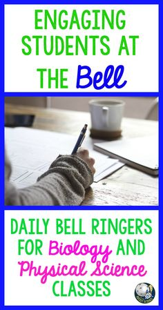 Biology and Physical Science bell ringers (or exit slips) for high school students!  The first 5 minutes of class are the most important in getting your students focused and ready to learn.  Don't waste the start of class!  Using daily bell ringers changed my classroom culture completely!