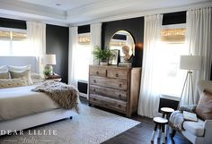Our Almost Finished Master Bedroom with All Source Information - Dear Lillie Studio Master Bedroom Design, Dream Bedroom, Home Bedroom, Bedroom Decor, Dark Master Bedroom, Bedroom Ideas, Decor Room, Home Decor, Bedroom Inspiration