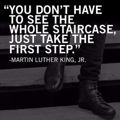 Its #MLKDay today. There are a lot of great quotes that I can take from what he said in his 39 years of life but this one always sticks out to me and always will. Always take that first step never know what it will bring. Regram from @kennethcole
