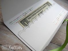 ProjectGallias: #projectgallias: Kopertówka z kwiatkiem ślub, Wedding card