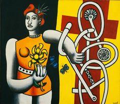 """artist-leger: """"The great Julie, Fernand Léger """" Modern Artists, French Artists, Modern Art Styles, Bicycle Art, Art Station, Art Database, Julie, Sculpture, Museum Of Modern Art"""