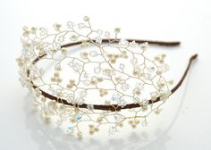 Pearl and crystal tiara Clairene - The Modern Vintage Bride, inspired vintage tiaras and wedding accessories