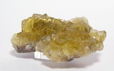 Yellow Spanish Fluorite Crystal Cluster Mineral by FenderMinerals
