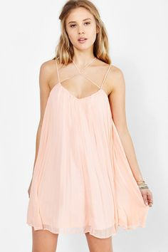Kimchi Blue Strappy-Neck Trapeze Dress - Urban Outfitters