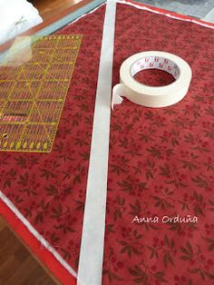 Anna Orduña - Mi Rincón de Patchwork: Tutorial: Acolchar líneas rectas Machine Quilting, Quilts, Rag Quilt, Patches, Home Decor, Patterns, Tela, Felt, Pdf Sewing Patterns