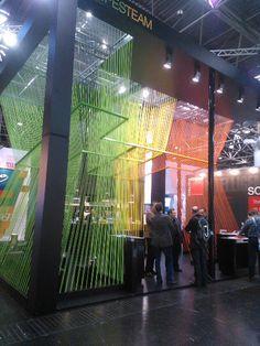 Euroshop 2014 #exhibitdesign #color #booth